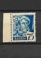 393 - Allemagne - III REICH BADEN 75 Pf Hans Baldung Grien Neuf ** - Baden