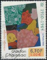 "France 2000 Yv. N°3350 - Gaston Chaissac, ""Visage Rouge"" - Oblitéré - France"
