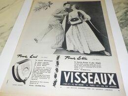 ANCIENNE PUBLICITE  POUR ELLE POUR LUI  DE VISSEAUX 1954 - Reclame