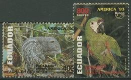 Ecuador 1993 Tiere Pakarana Rotbugara 2249/50 Postfrisch - Ecuador