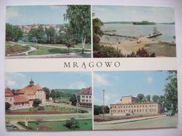 Poland: Mragowo (Warmia-Masuria Province) - Widok Ogolny, Plac Michala Kajki, Jezioro Czos, Dom Kultury - 1970s - Polen