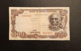Billet 1000 Bipkwele Guinée Equatoriale - Guinea Ecuatorial