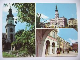 Poland: Zamosc - Klasycystyczna Dzwonnica, Ratusz, Fragment Rynku Wielkiego - 1970s Unused - Polen