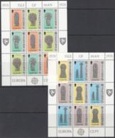 ISLE OF MAN 122-127, 2 Kleinbogen, Postfrisch **, Europa CEPT: Baudenkmäler 1978 - Isle Of Man
