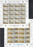 ISLE OF MAN, 137-310, 2 Kleinbogen, Gestempelt, Europa CEPT: Natur- Und Umweltschutz 1986 - Isle Of Man