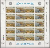 ISLE OF MAN, 137-310, 2 Kleinbogen, Postfrisch **, Europa CEPT: Natur- Und Umweltschutz 1986 - Isle Of Man