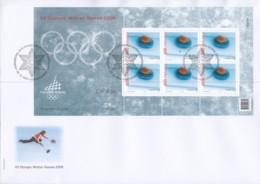 SCHWEIZ  1949, Kleinbogen Auf FDC, Olympische Winterspiele Turin, 2005 - Blocks & Sheetlets & Panes
