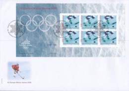 SCHWEIZ  Ämter IOC 5, Kleinbogen Auf FDC, Olympische Winterspiele Turin, 2005 - Officials