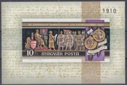 """UNGARN  Block 92 B, Postfrisch **, 750. Jahrestag Der Veröffentlichung Der """"Goldenen Bulle"""". 1972 - Hojas Bloque"""