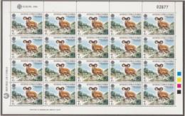 ZYPERN, 655-656, 2 Kleinbogen, Postfrisch **, Europa CEPT: Natur- Und Umweltschutz 1986 - Cyprus (Republic)