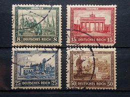 Deutsche Reich Mi-Nr. 446-449 Gestempelt Mängel Sind - Gebraucht