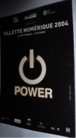 "Carte Postale ""Cart'Com"" (2004) - Villette Numérique 2004 (bouton ""Power"") - Werbepostkarten"
