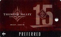 Thunder Valley Casino Lincoln CA - BLANK 15 Yr Anniv Slot Card Copyright 2018 - Casinokarten