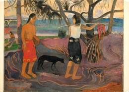 Art - Peinture - Nu - Paul Gauguin - Sous Les Arbres Pandanus - CPM - Voir Scans Recto-Verso - Paintings