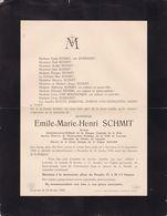 AARSCHOT LEUVEN SCHMIT Emile Avocat échevin Louvain Banque Centrale De La Dyle  1876-1928 Famille EVERAERT WUYTS - Overlijden