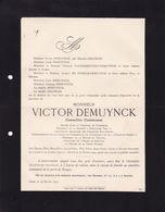 GAND DEMUYNCK Victor Conseiller Communal 1840-1904 Président De La Société Guillaume Tell Union Du Crédit DELCROIX - Overlijden