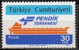 Turkey 1982 Inauguration Of Pendik Shipyard 1 Value Mi 2604 MNH 2008.0858 Ship - Transport