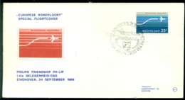 Nederland 1966 Speciale Vlucht Philips Friendship PH-LIP VH A 718 - Airmail