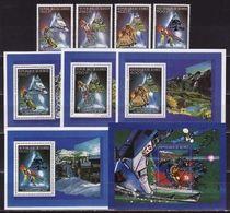 Guinea, 1990, Winter Olympics 1992 (I), 4 Stamps + 5 Blocks - Winter 1992: Albertville