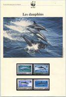 Document WWF - Montserrat (Plymouth 1990) - Les Dauphins - (N° Yvert & Tellier 743 à 746) (Recto-Verso) - Montserrat