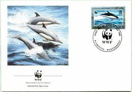 Enveloppe F.D.C. De Montserrat (Plymouth 1990) (WWF) - Les Dauphins - (N° Yvert & Tellier 744) - Montserrat