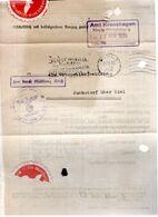 LETTRE DOCUMENT 1936 - POSTEE A KIEL - - Deutschland