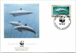 Enveloppe F.D.C. De Montserrat (Plymouth 1990) (WWF) - Les Dauphins - (N° Yvert & Tellier 743) - Montserrat