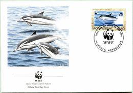 Enveloppe F.D.C. De Montserrat (Plymouth 1990) (WWF) - Les Dauphins - (N° Yvert & Tellier 745) - Montserrat