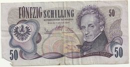 50  FUNFZIG  SCHILLING MANCA LATO - Austria