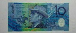 10 Dólares XF/VF + + $10 Billete De Australia (N. D) Condición Circulado - 1974-94 Australia Reserve Bank (papier)