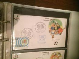 ITALIA 90 FDC COSTARICA SCOZIA - Livres, BD, Revues