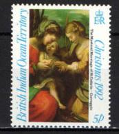 BRITISH INDIAN OCEAN TERRITORY - 1992 - NATALE - CHRISTMAS - DIPINTO DEL CORREGGIO - PAINTING - MNH - Territoire Britannique De L'Océan Indien
