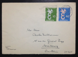 Germany, Circulated Cover To France, « EUROPA CEPT », 1958 - Europa-CEPT