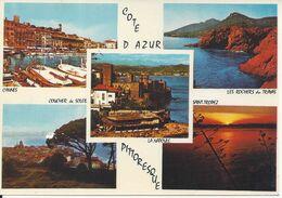 CPM Souvenir De La Côte D'Azur Multivue 5 Vues - Gruss Aus.../ Grüsse Aus...