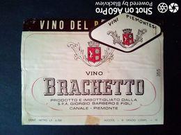 ETICHETTA - ÉTIQUETTE - BRACHETTO BARBERO - CANALE (CUNEO) - Rouges