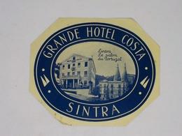 Cx13 CC24) Portugal GRANDE HOTEL COSTA Sintra Etiquette Hotel Label 10,5x12cm - Etiketten Van Hotels