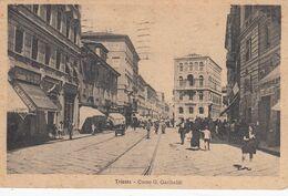 TRIESTE-CORSO GIUSEPPE GARIBALDI-ANIMATA-CARTOLINA VIAGGIATA IL 3-8-1927 - Trieste (Triest)
