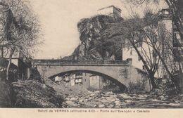 VERRES-AOSTA-PONTE SULL'EVANCON E CASTELLO-CARTOLINA NON VIAGGIATA -ANNO 1915-1925 - Aosta