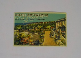 Cx13 CC29) Portugal HOTEL DO PARQUE COSTA DO SOL Estoril  Etiquette Hotel Label 8x12cm - Etiketten Van Hotels
