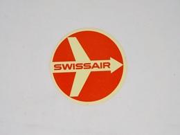 Cx13 CC31) Aviation SWISSAIR Etiquette Label Diam. 8,5cm - Other