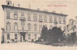 PAVIA-PIAZZA MUNICIPALE- CARTOLINA VIAGGIATA IL 8-4-1908 - Pavia