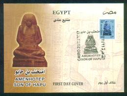 EGYPT / 2017 / AMENHOTEP ; SON OF HAPU /  EGYPTOLOGY / ARCHEOLOGY / FDC - Egypt