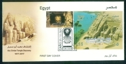 EGYPT / 2017 / ABU SIMBEL TEMPLE / RAMESES II / SUN VERTICALITY / ARCHEOLOGY / FDC - Egypt