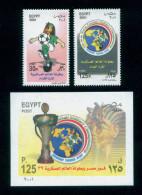 EGYPT / 2001 / SPORT / FOOTBALL / WORLD MILITARY FOOTBALL CHAMPIONSHIP / TUT ANKH AMUN / MAP / FLAG / TROPHY / MNH / VF - Egypt