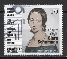 Allemagne Fédérale - Germany - Deutschland 2019 Y&T N°(2) - Michel N°3493 (o) - 170c C Schumann - Used Stamps