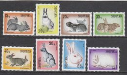 Albania 1967 - Rabbits And Hares, Mi-Nr. 1193/200, MNH** - Albania