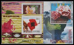 115. EQUATORIAL GUINEA 03 DIFFERENT STAMP M/S FLOWERS  .MNH - Equatorial Guinea