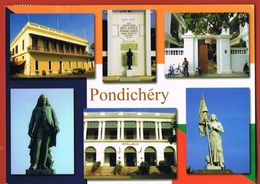 PONDICHERY- India's French Connection - Circulée -   Scans Recto Verso- Paypal Free - India
