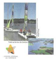 LACS DU LEVEZOU AVEYRON - VOILIERS, LACS, CONSEIL GENERAL DE L AVEYRON, PAP ENTIER POSTAL FLAMME LA POSTE 2010, A VOIR - Vela