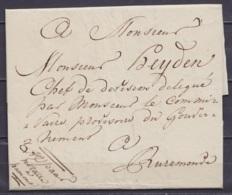 L. Datée 3 Avril 1814 D'un Notaire De HAMONT Pour RUREMONDE - 1794-1814 (French Period)